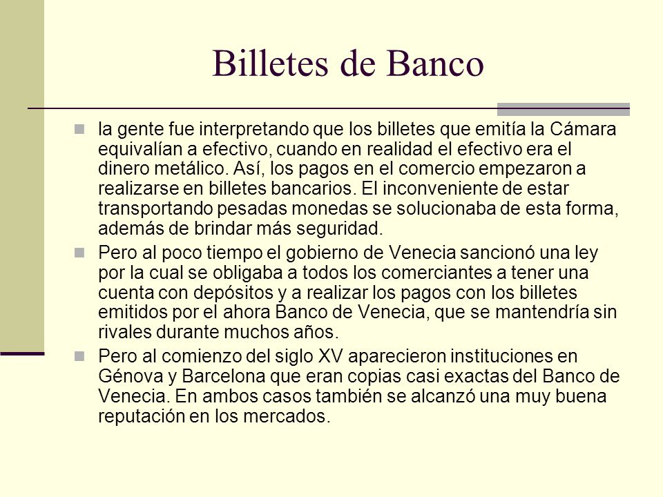 Billetes de Banco
