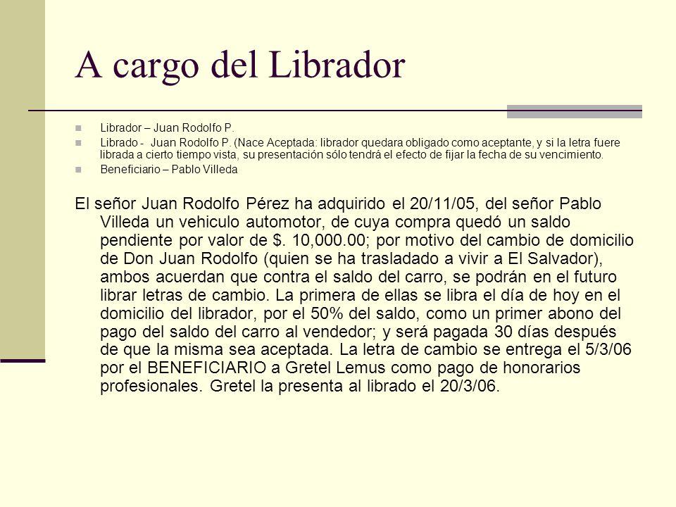 A cargo del Librador Librador – Juan Rodolfo P.