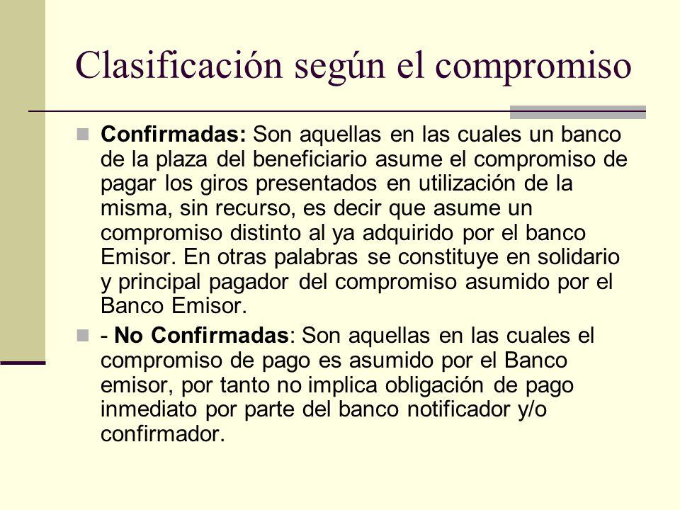 Clasificación según el compromiso
