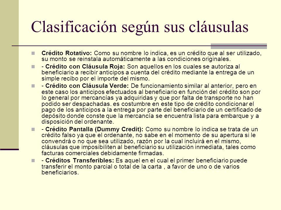 Clasificación según sus cláusulas