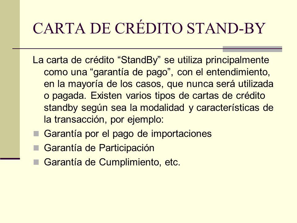 CARTA DE CRÉDITO STAND-BY