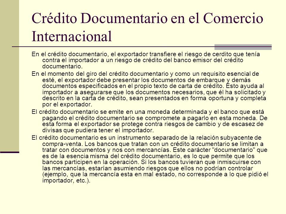 Crédito Documentario en el Comercio Internacional
