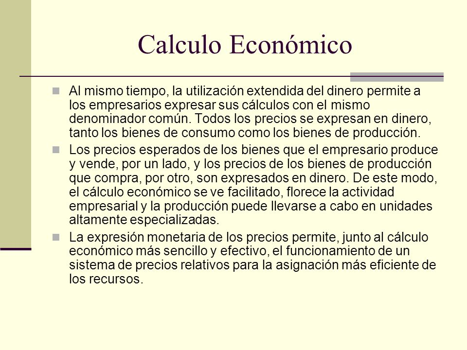 Calculo Económico