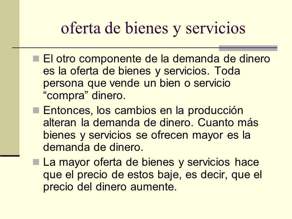 oferta de bienes y servicios
