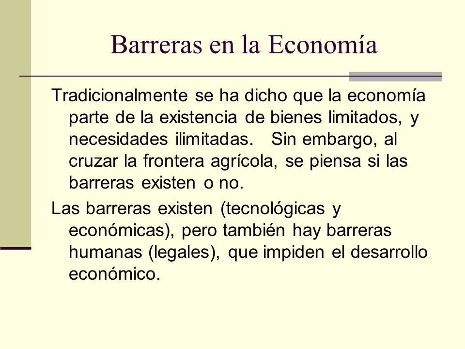 Barreras en la Economía