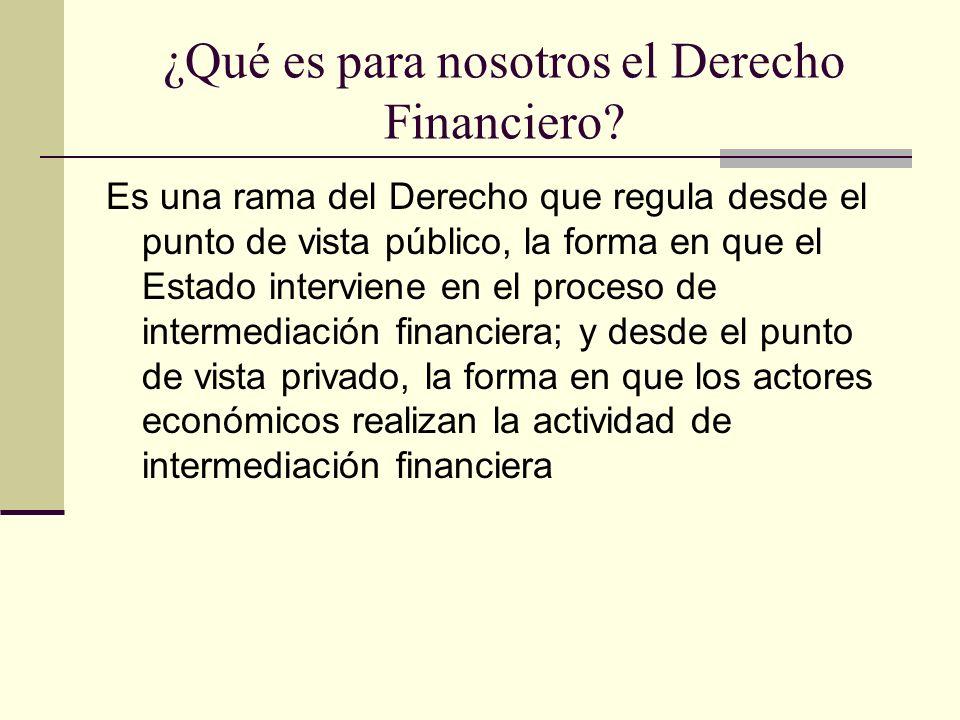 ¿Qué es para nosotros el Derecho Financiero