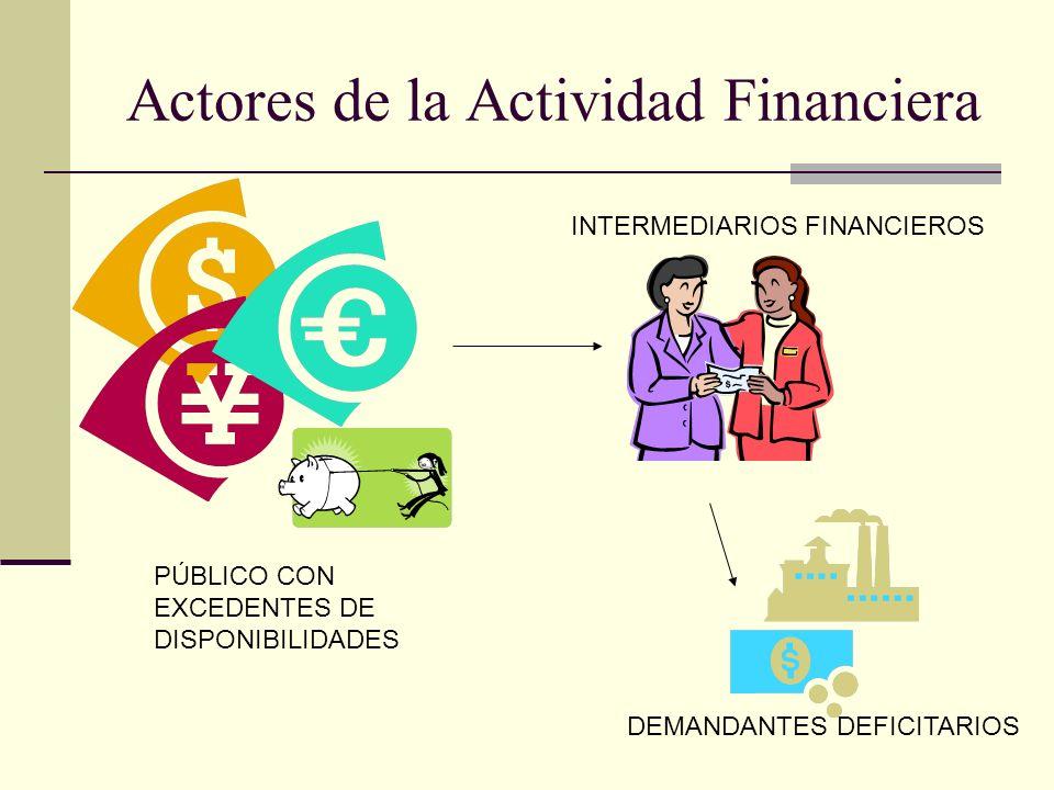 Actores de la Actividad Financiera