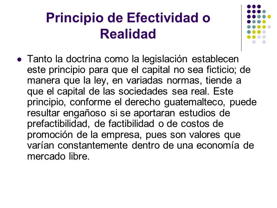 Principio de Efectividad o Realidad