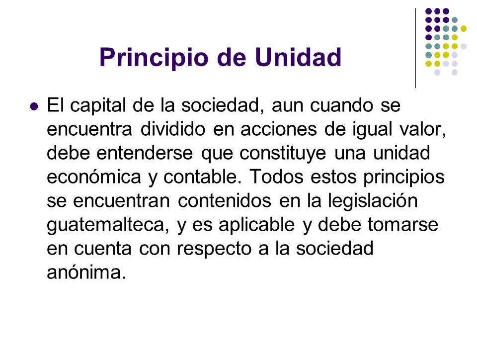 Principio de Unidad
