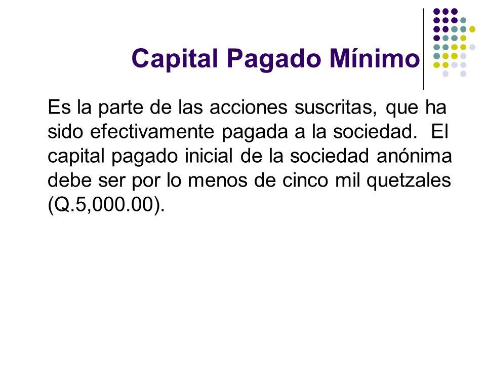 Capital Pagado Mínimo