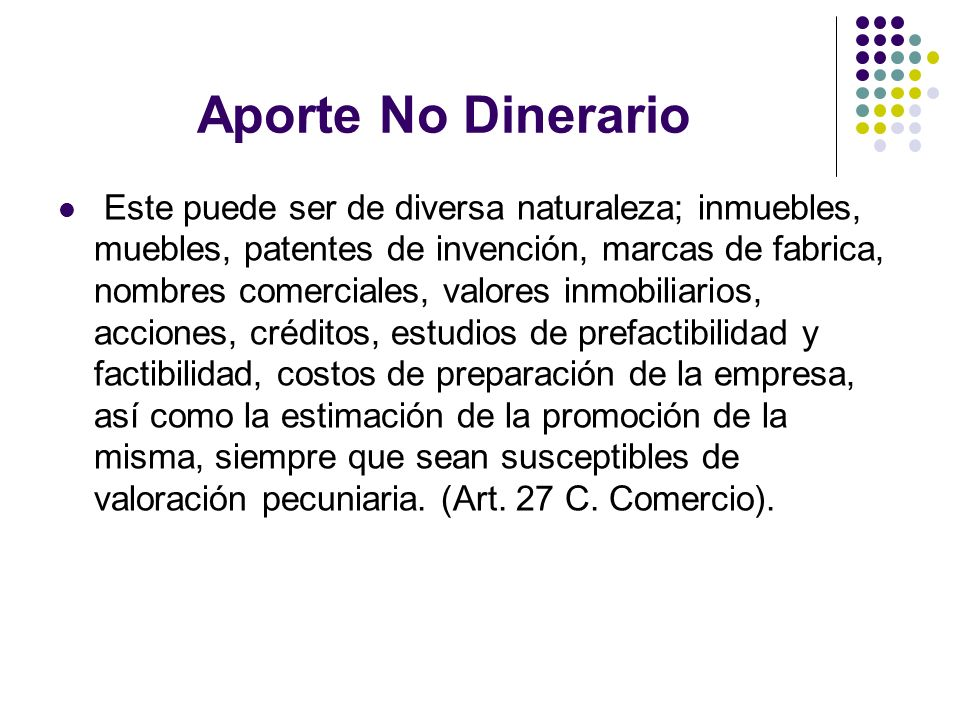 Aporte No Dinerario