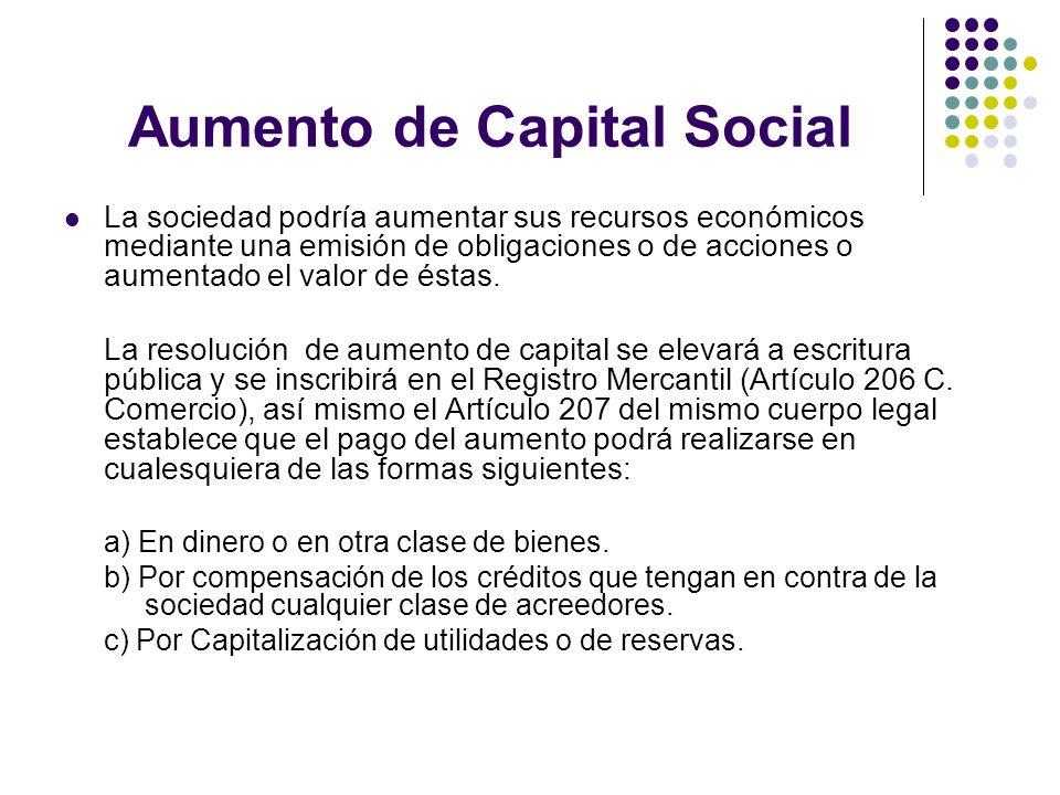 Aumento de Capital Social
