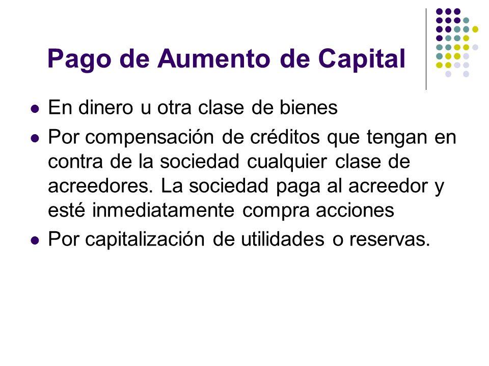Pago de Aumento de Capital