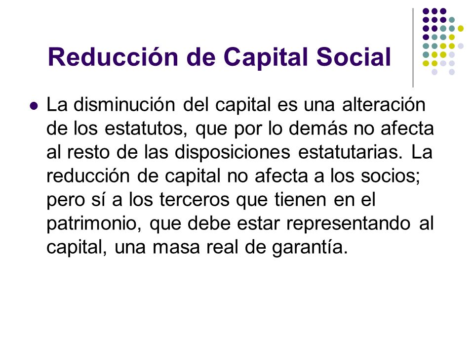 Reducción de Capital Social