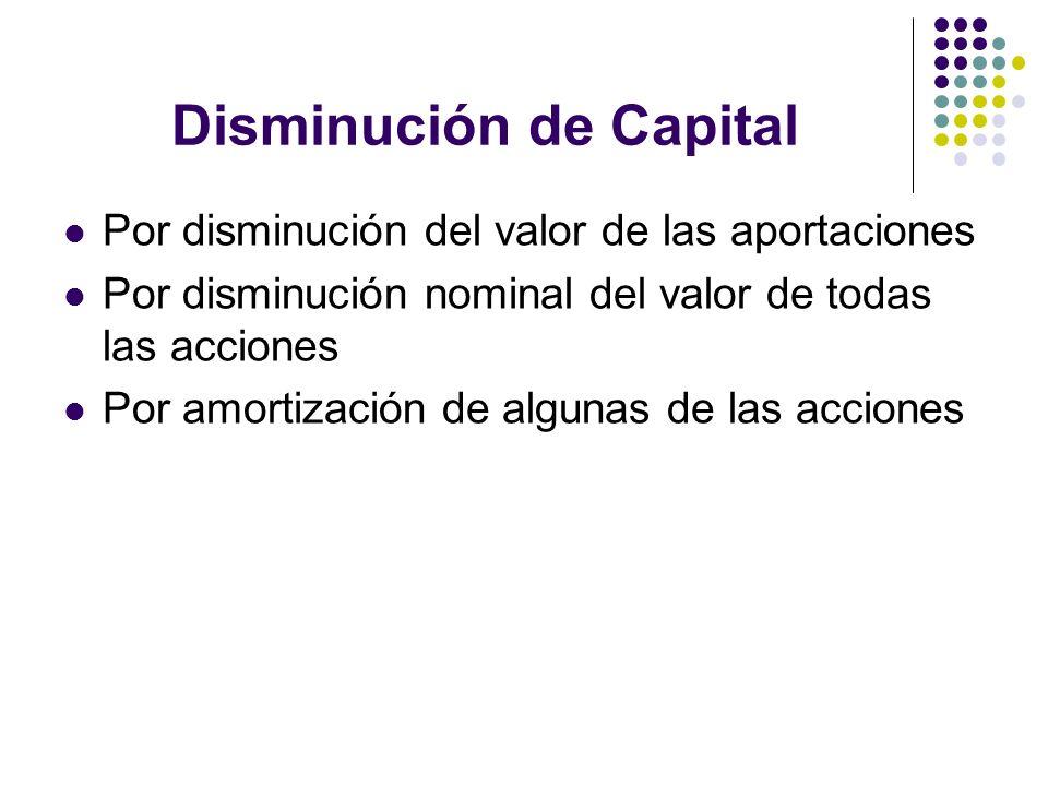 Disminución de Capital