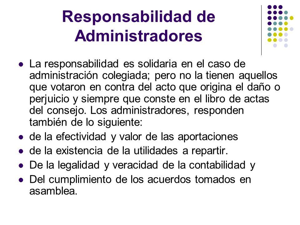 Responsabilidad de Administradores