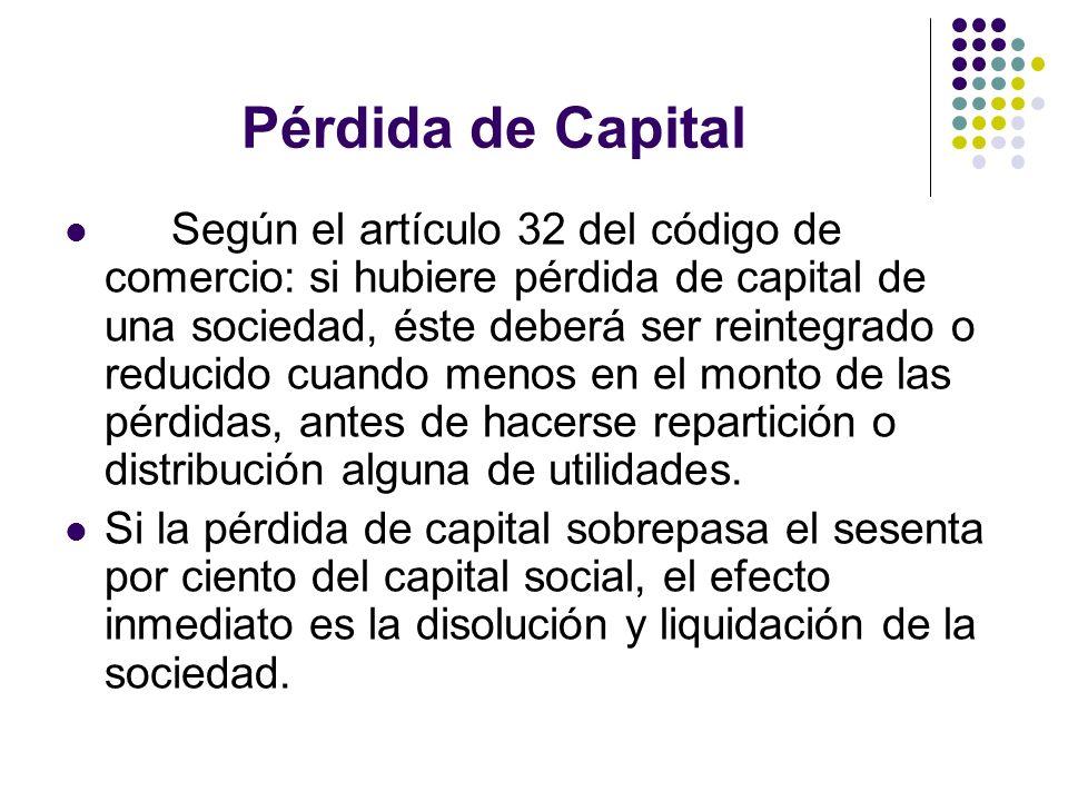 Pérdida de Capital