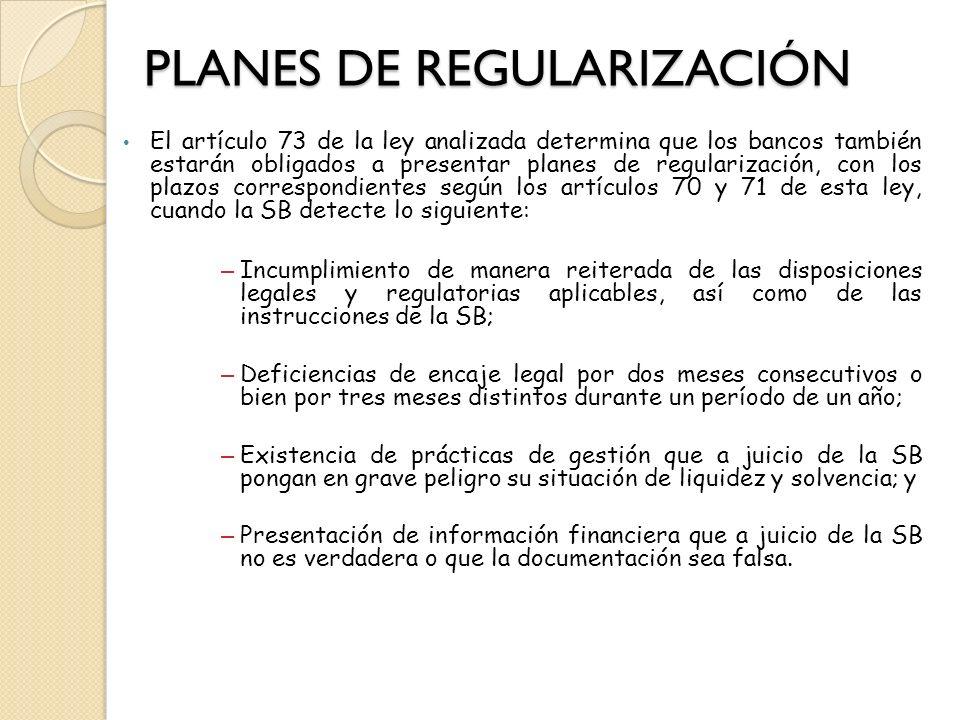 PLANES DE REGULARIZACIÓN