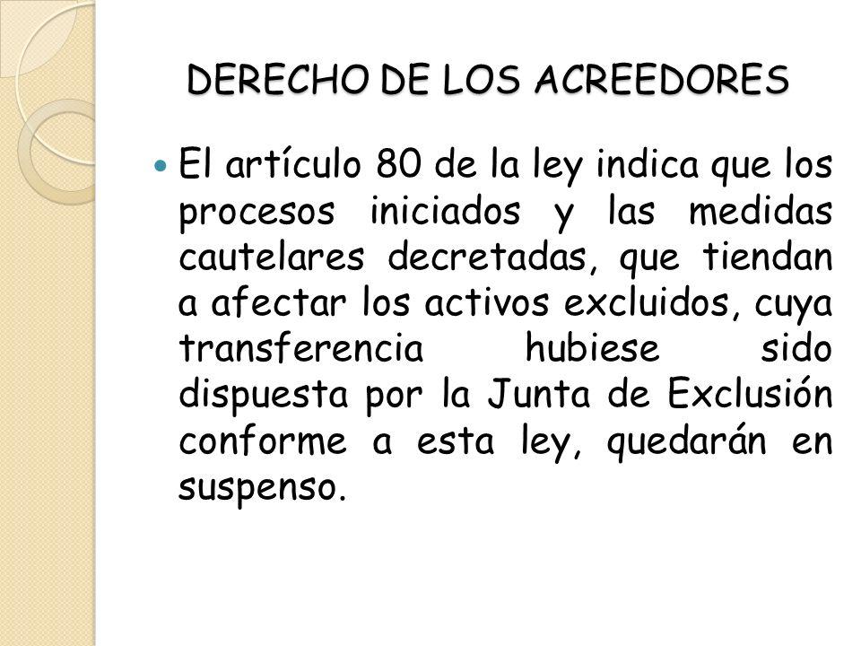 DERECHO DE LOS ACREEDORES