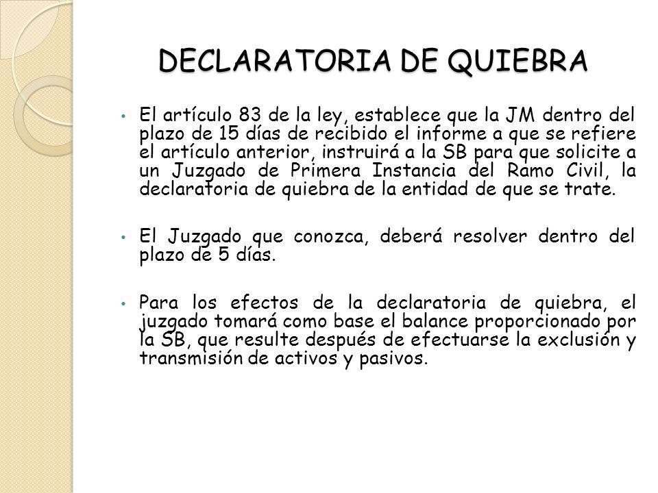 DECLARATORIA DE QUIEBRA