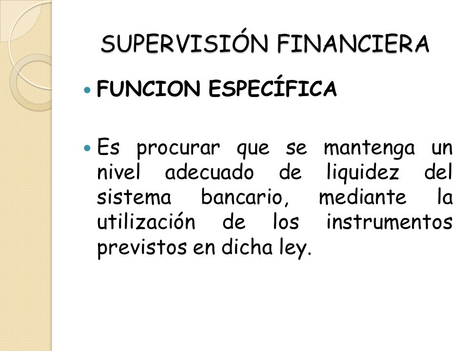 SUPERVISIÓN FINANCIERA