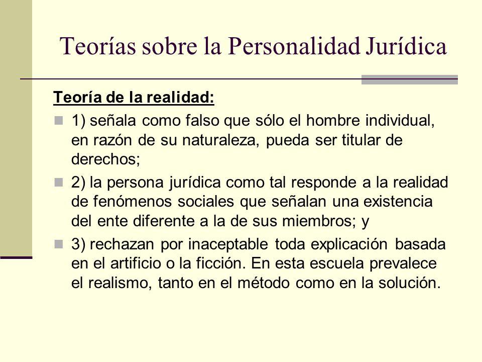 Teorías sobre la Personalidad Jurídica