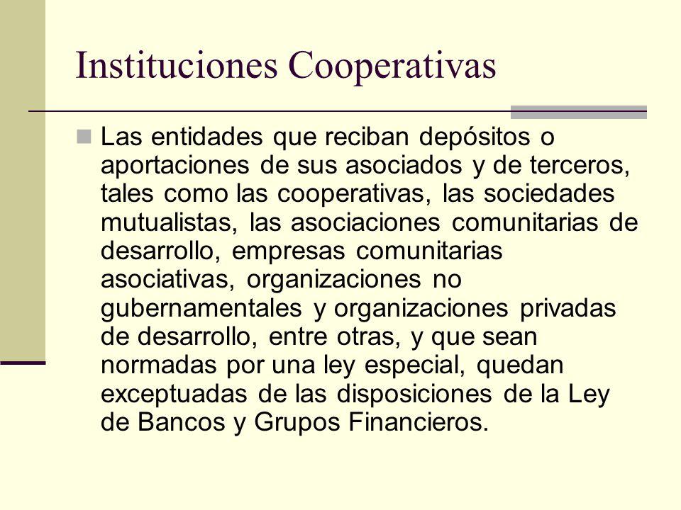Instituciones Cooperativas