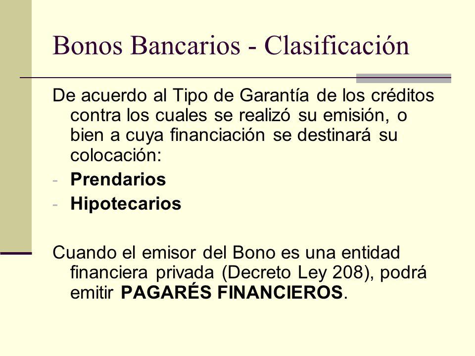Bonos Bancarios - Clasificación