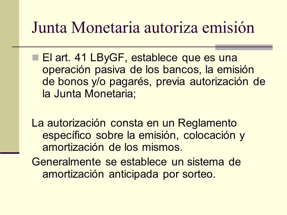 Junta Monetaria autoriza emisión