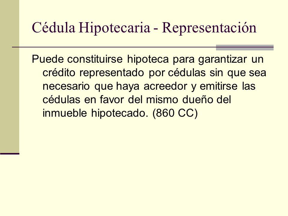 Cédula Hipotecaria - Representación