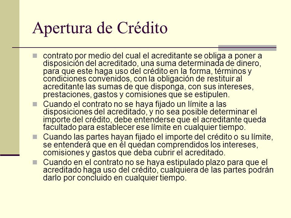 Apertura de Crédito