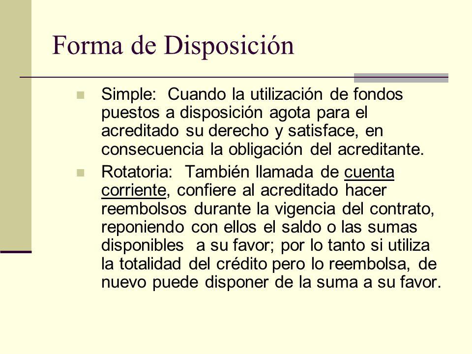 Forma de Disposición
