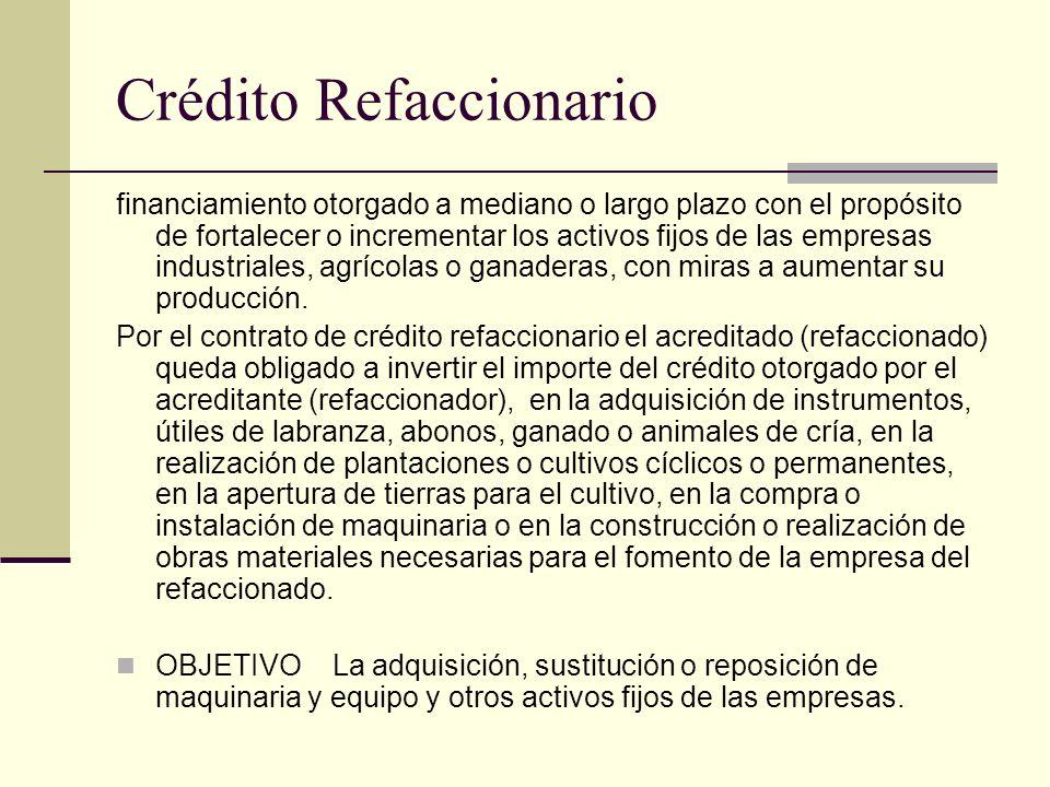 Crédito Refaccionario