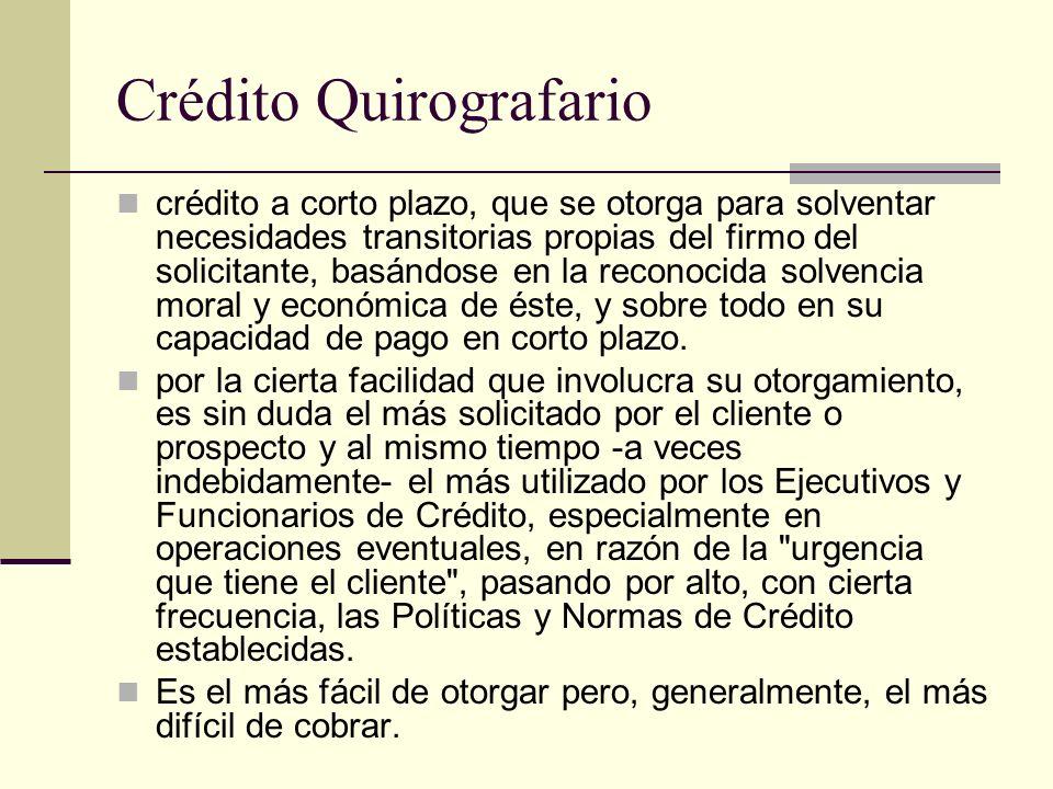 Crédito Quirografario