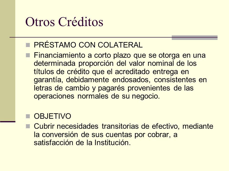 Otros Créditos PRÉSTAMO CON COLATERAL