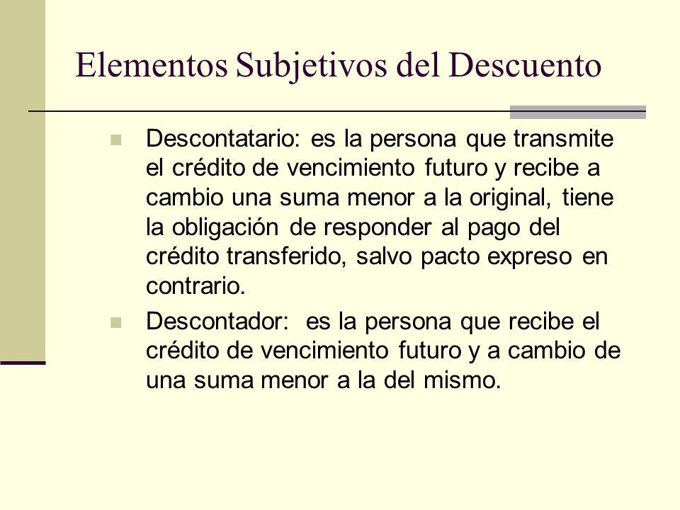 Elementos Subjetivos del Descuento