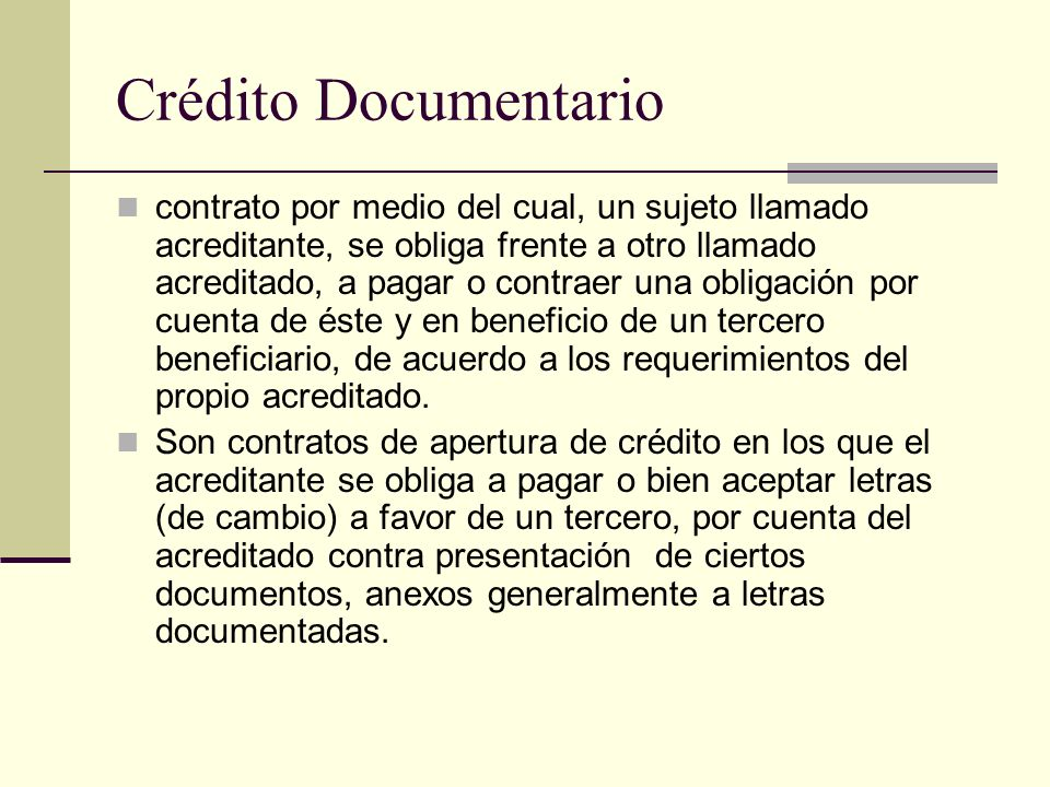 Crédito Documentario