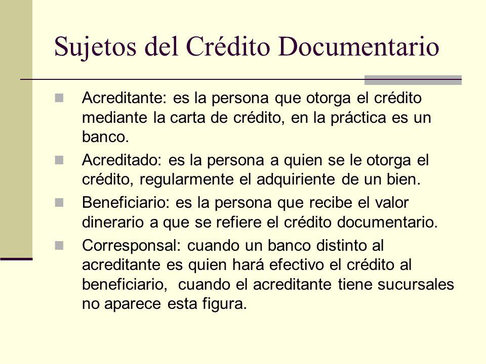 Sujetos del Crédito Documentario