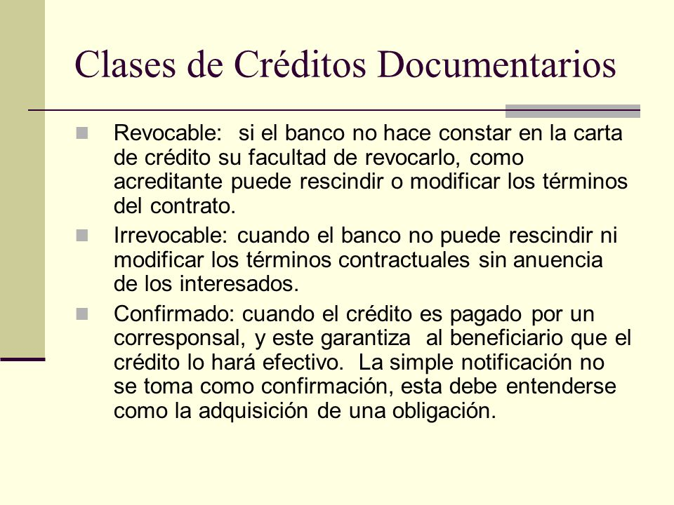 Clases de Créditos Documentarios