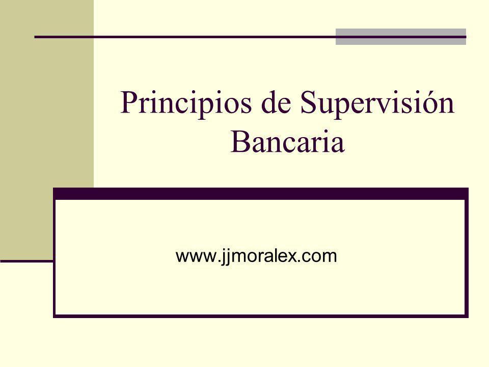 Principios de Supervisión Bancaria