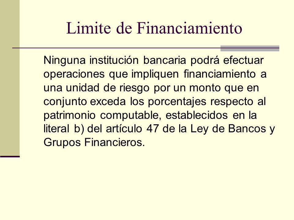 Limite de Financiamiento