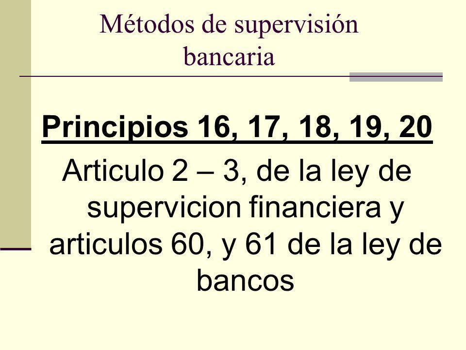 Métodos de supervisión bancaria