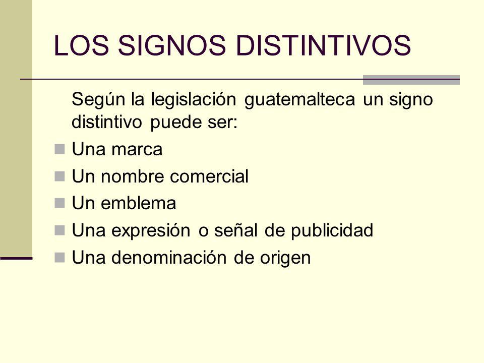 LOS SIGNOS DISTINTIVOS