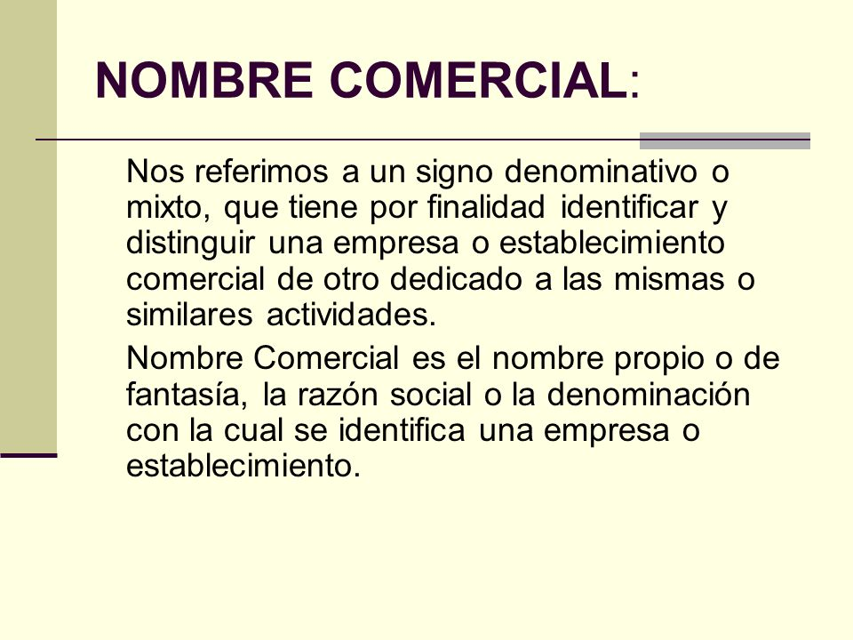 NOMBRE COMERCIAL:
