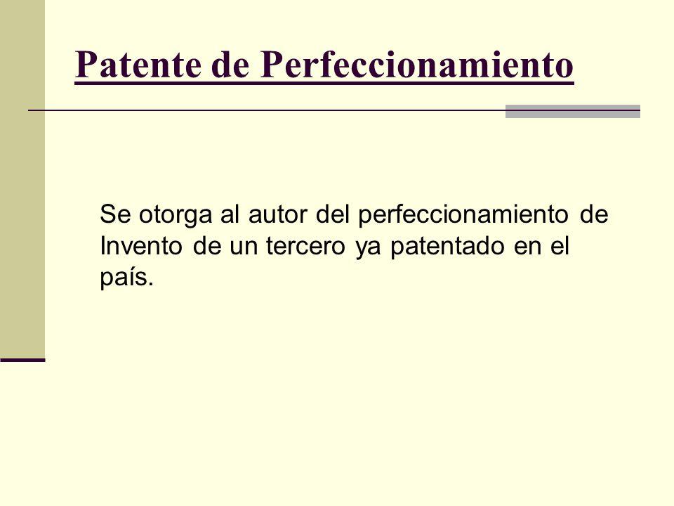 Patente de Perfeccionamiento