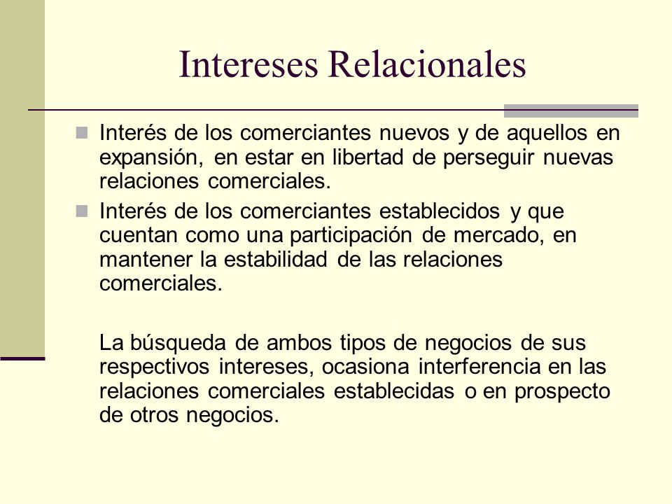 Intereses Relacionales