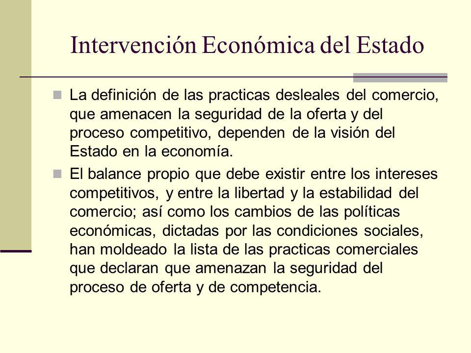 Intervención Económica del Estado
