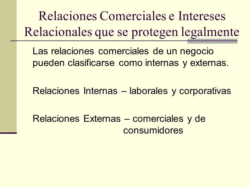Relaciones Comerciales e Intereses Relacionales que se protegen legalmente