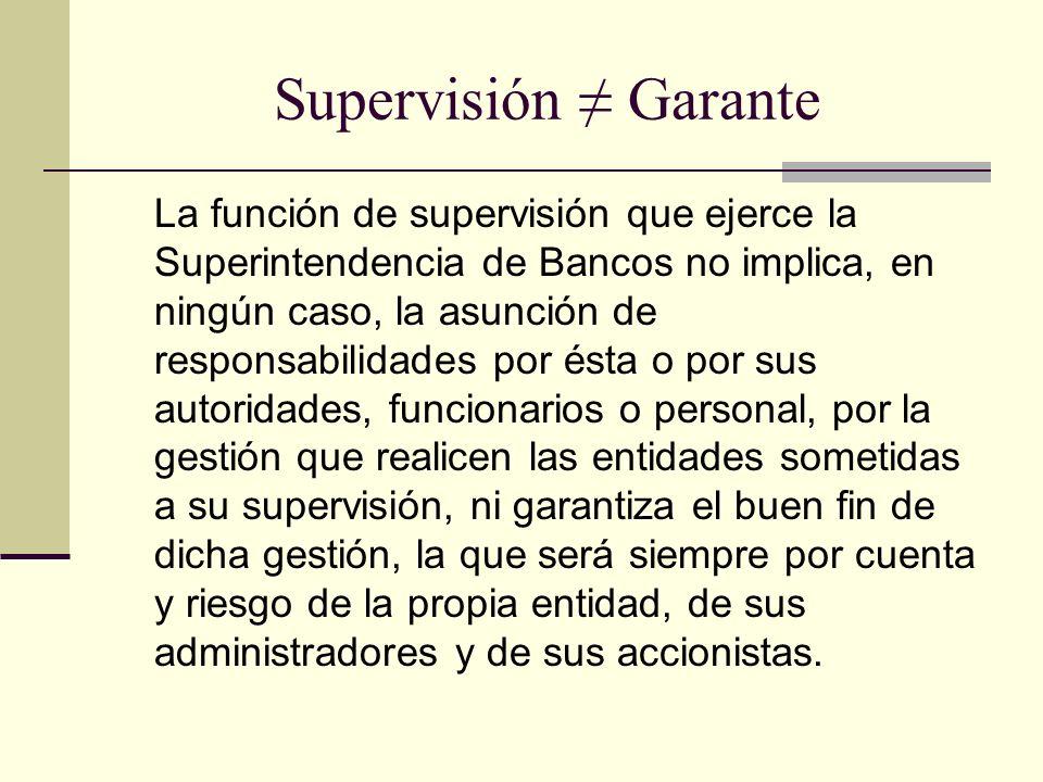 Supervisión ≠ Garante