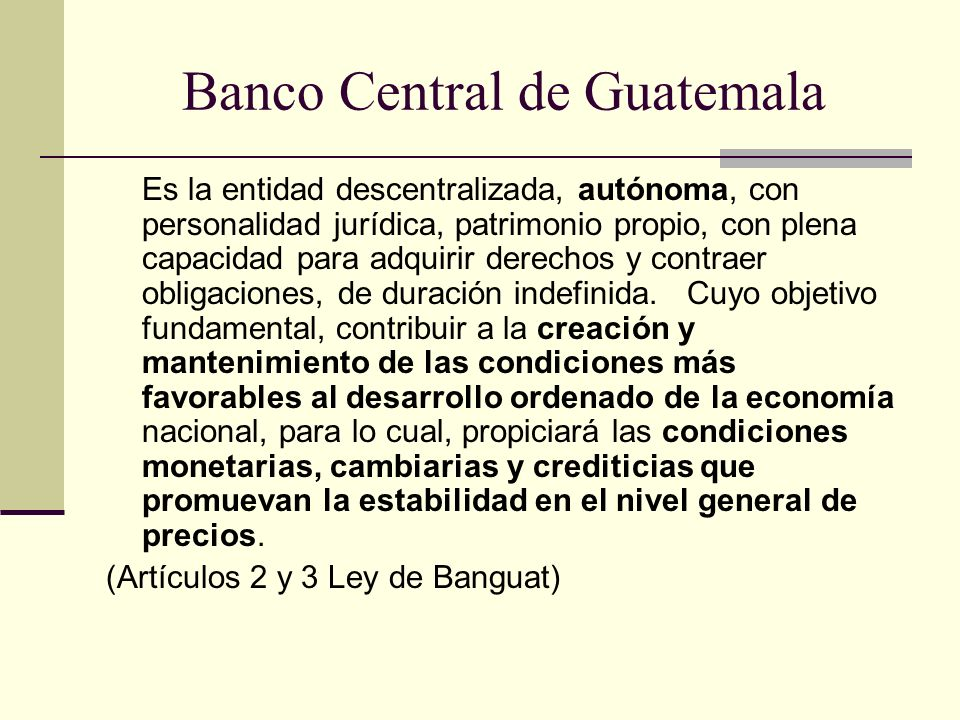 Banco Central de Guatemala